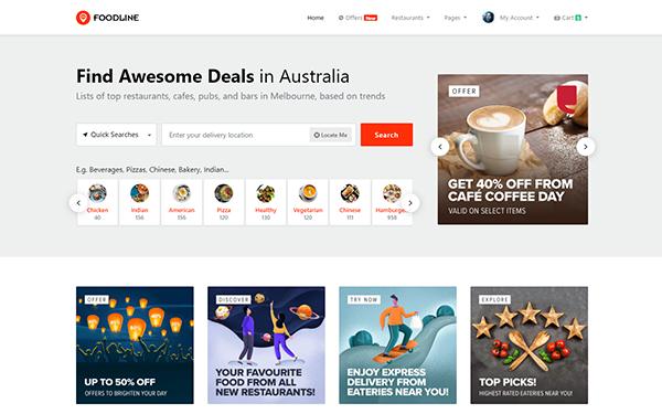 DOWNLOAD - Food Line - Online Food Ordering Template