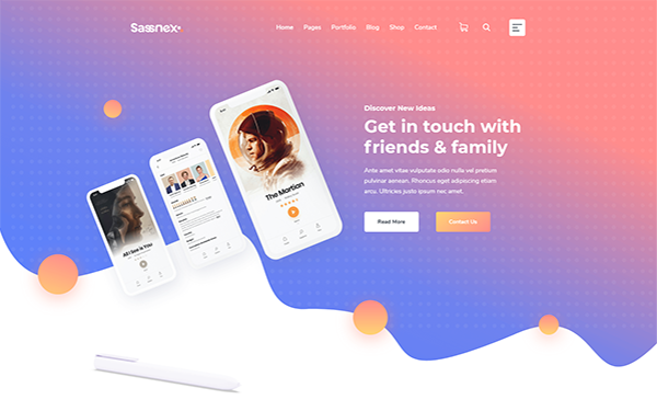 [DOWNLOAD] - Sassnex - Software and App Landing Template