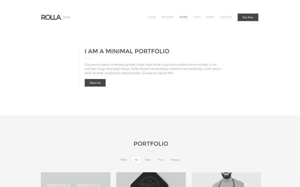 Rolla | Minimal Portfolio Template - Live Preview - WrapBootstrap