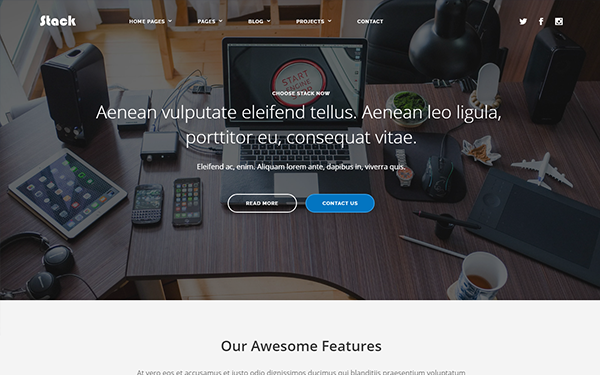 Stack -  Multipurpose HTML Template