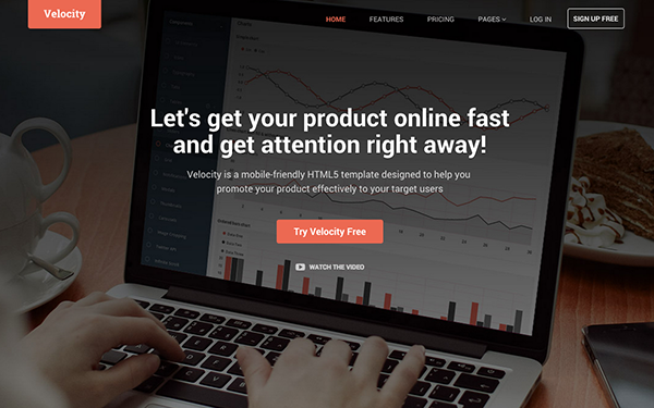 Velocity | For Products (Bootstrap 4)