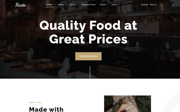 Resto - Multipurpose Restaurant Theme