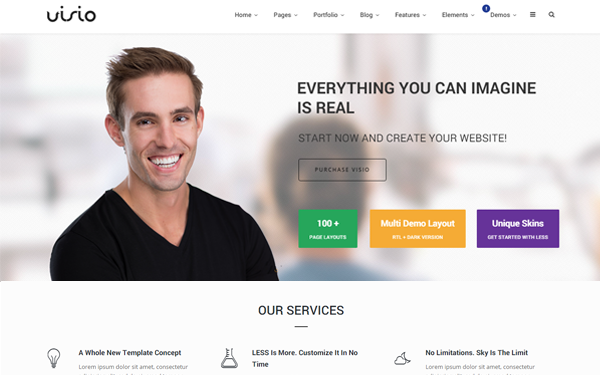 DOWNLOAD - Visio - Responsive Website Template