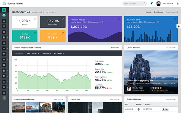 Source Admin - Angular JS + HTML Apps - Live Preview - WrapBootstrap