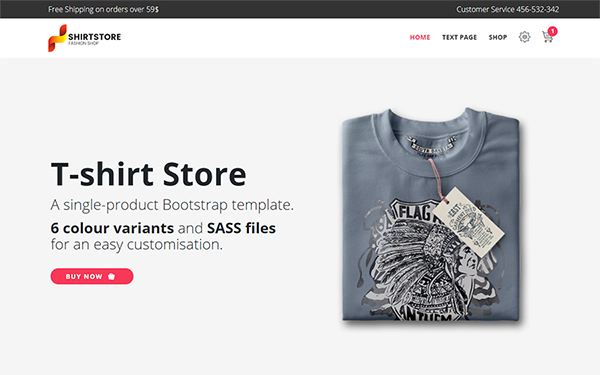 T-Shirt - Single-Product E-Commerce
