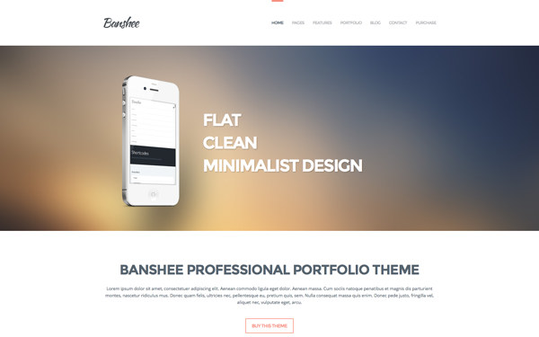 Banshee: Professional Portfolio Theme WP - Live Preview - WrapBootstrap