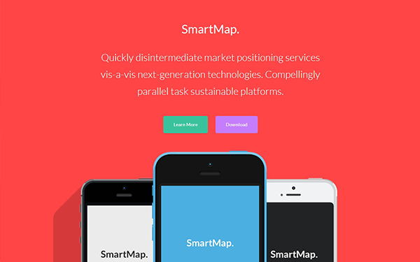 SmartMap - Multi-Page Landing Page - Live Preview - WrapBootstrap