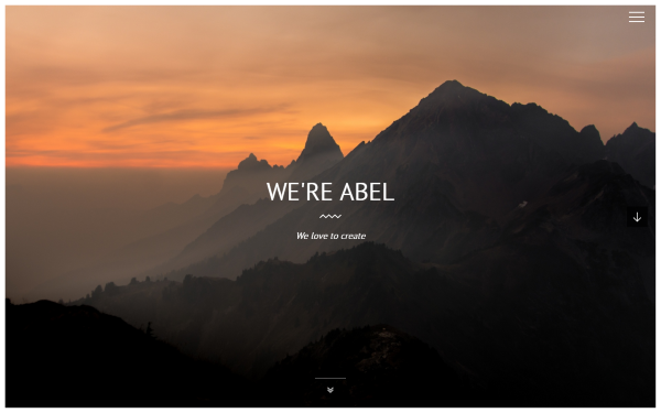 Abel - 3D One Page Template - Live Preview - WrapBootstrap