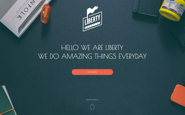 Liberty - One Page HTML Template | WrapBootstrap