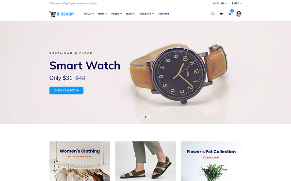 Bigshop - Responsive E-commerce Template