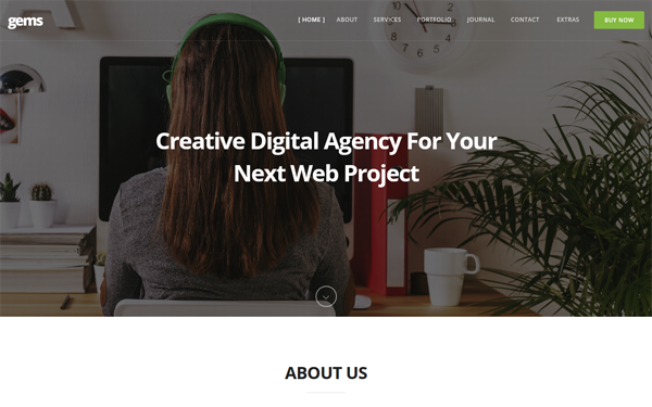 DOWNLOAD - Gems - Multipurpose Bootstrap4 Onepage