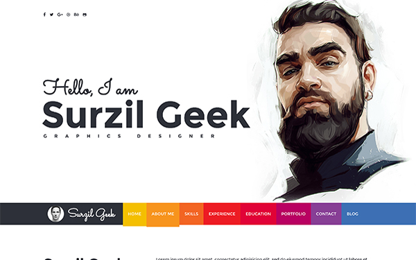 Geek - Resume & Portfolio Template