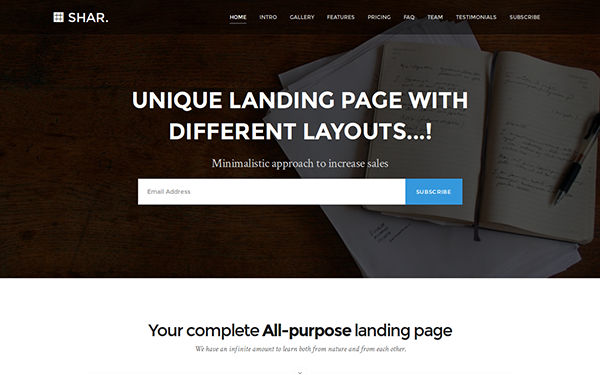 DOWNLOAD - Shar - Landing Page