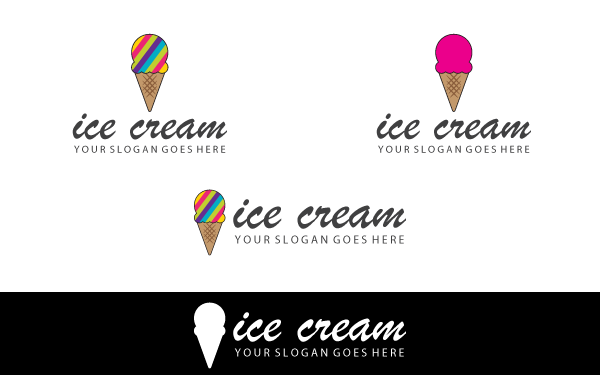 Colorful Ice Cream Logo Template