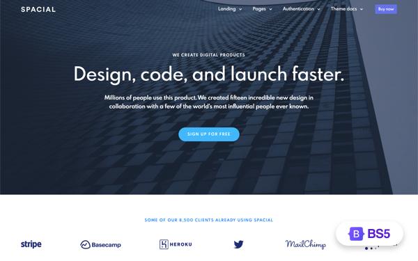 Spacial - Responsive Bootstrap 4 Theme