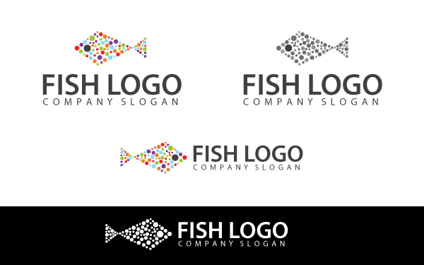 Colorful Fish Logo Template