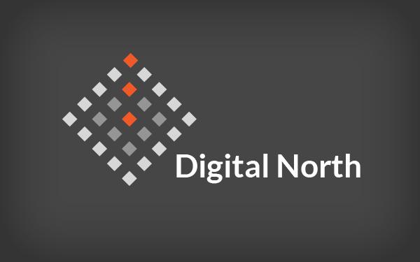 north logo. digital north logo template