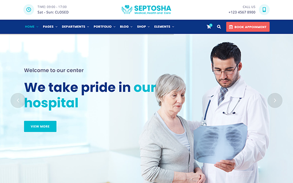 DOWNLOAD - Septosha - Medical Health Care Template