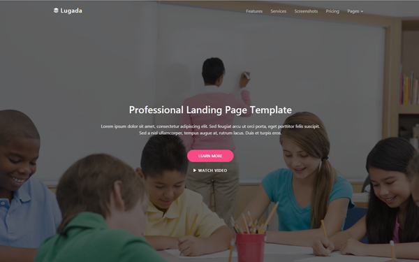 Lugada - Landing Page Template - Live Preview - WrapBootstrap