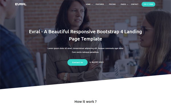 DOWNLOAD - Evral - Landing Page Template