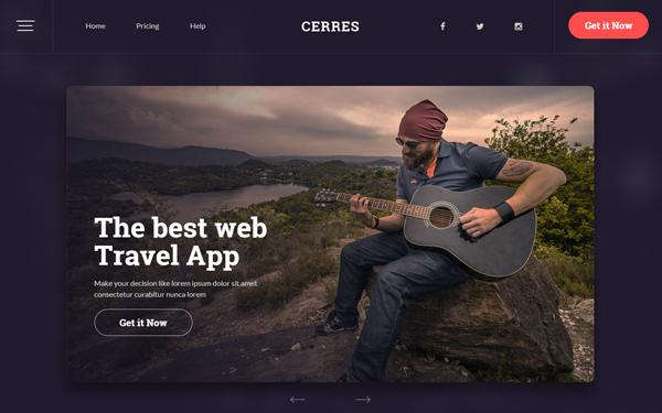 Cerres - Responsive Website Template - Live Preview - WrapBootstrap