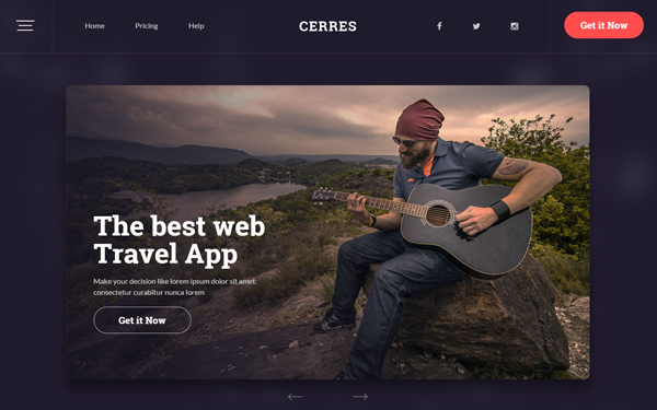 Cerres - Responsive Website Template