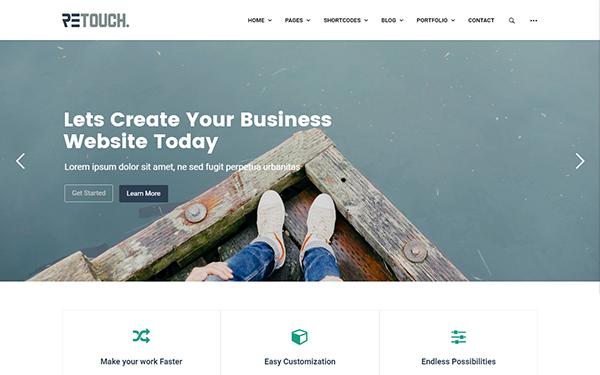 ReTouch - Multi-Purpose WordPress Theme - Live Preview - WrapBootstrap