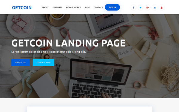 DOWNLOAD - Getcoin - Cryptocurrency Landing Page