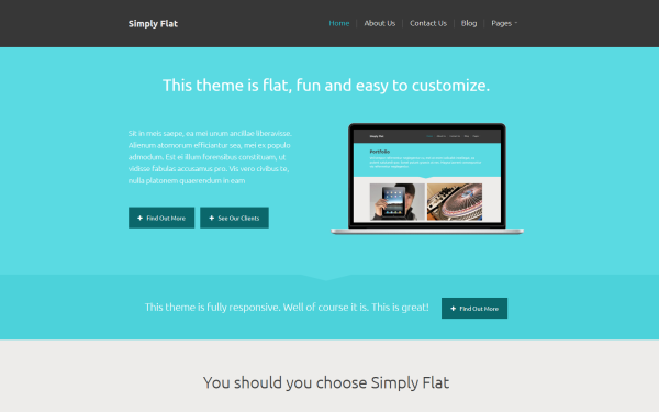 Full Site Templates - Simply Flat - <p>Yep, SImply Flat</p>