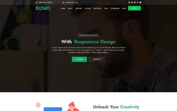 Bizmo - Multipurpose One Page Parallax