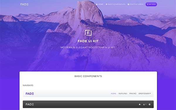 DOWNLOAD - FADE - Bootstrap 4 UI Kit
