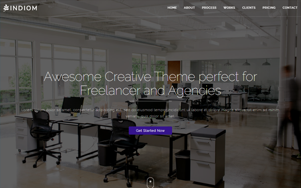 Indiom one page bootstrap agency theme