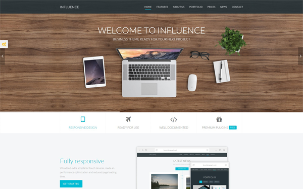 Influence premium business template wrapbootstrap influence premium business template accmission Choice Image