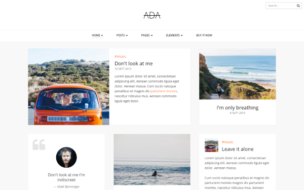 Ada - Personal Blog Template | Bootstrap Blog & Magazine Templates ...