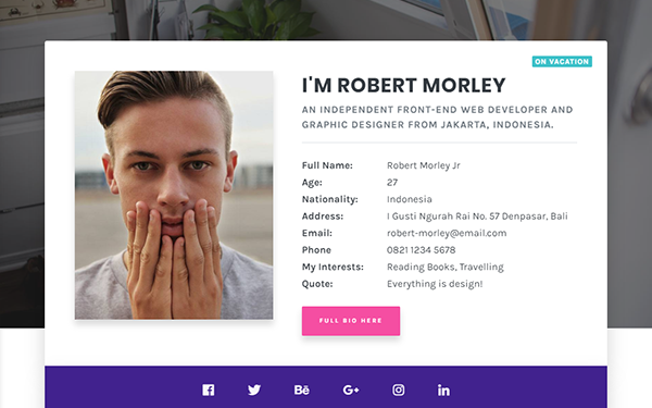 [DOWNLOAD] - Morley - Creative Resume/CV Theme