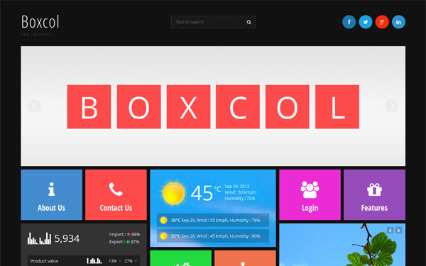 BoxCol - Box Layout Bootstrap Theme