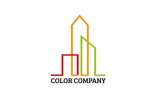 Color company logo by bigbase wrapbootstrap for Architecture logo