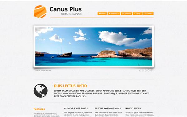 Canus Plus: Business, Portfolio & Blog - Live Preview - WrapBootstrap