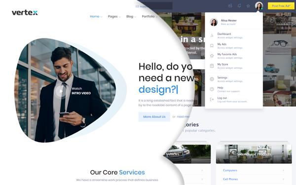 Express business website template wrapbootstrap express business website template wajeb Image collections