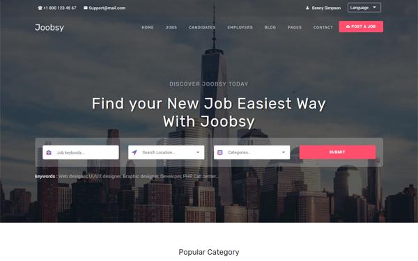 DOWNLOAD - Joobsy - Job Listing HTML5 Template