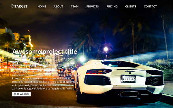 TARGET Bootstrap Theme
