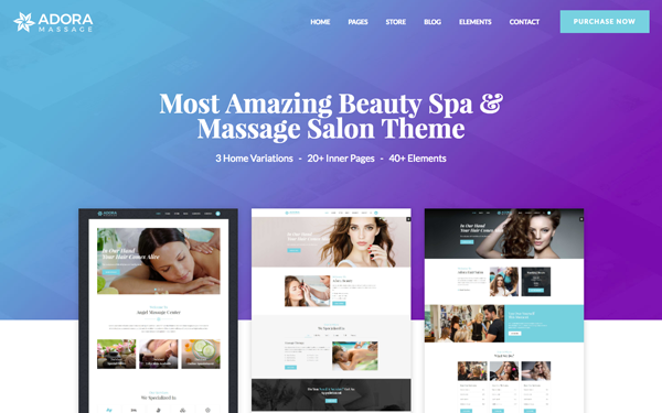 Adora - Beauty Spa & Massage Salon Theme
