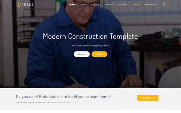 construction html site templates wrapbootstrap