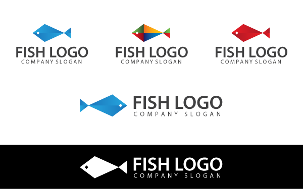 Abstract Fish Logo Template