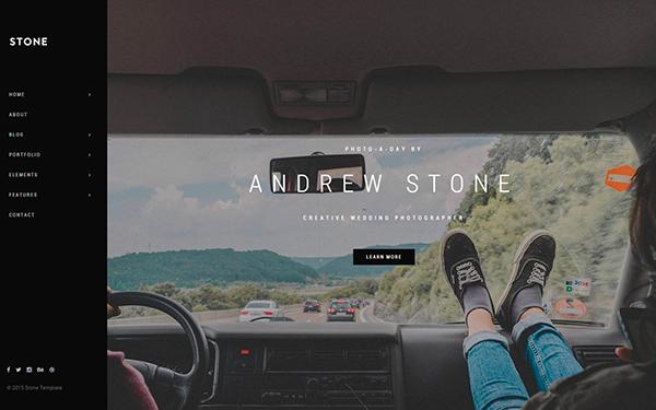 Stone - Responsive HTML5 Portfolio - Live Preview - WrapBootstrap