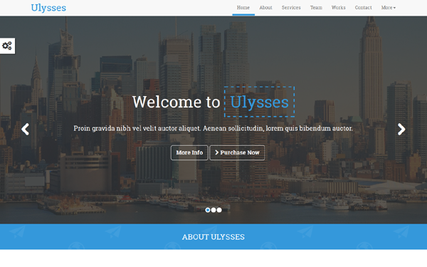 Ulysses - One Page Parallax Template - Live Preview - WrapBootstrap