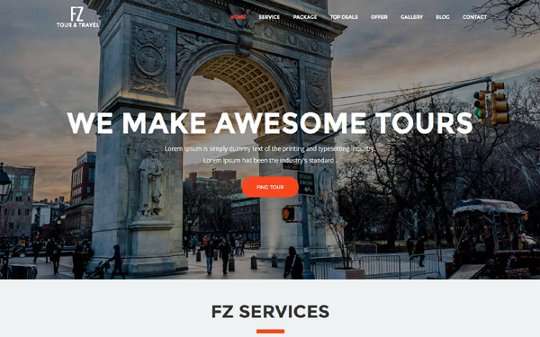 FZ - Tour & Travel Agency Template