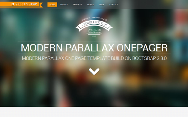 SCROLL&STRAP - Modern Parallax One-Pager | Bootstrap Business ...
