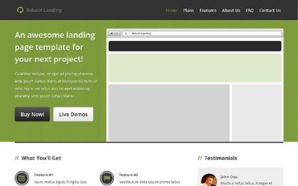 Reboot Landing Page