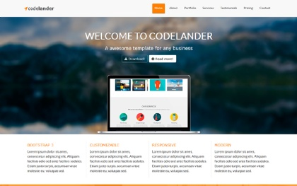 Codelander - One Page Template